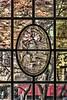 Window 12. North Walk, Hutchins Hall - Cartoon - Murder