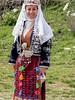 One of the village folk dancers