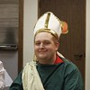 Blake Winn, Sacred Heart Youth Group member and senior at Notre Dame Catholic School in Wichita Falls, is wearing a Saint Patrick costume at the dinner during the Sacred Heart Church All Hallow's Eve Celebration on Oct. 29.