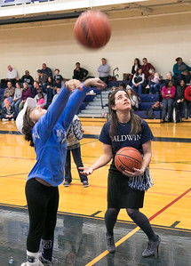 DECEMBER 13, 2017 - BRYN MAWR, PA -- Baldwin School Varsity Basketball vs. Hun at Spirit Night Wednesday, December 13, 2017.  PHOTOS © 2017 Jay Gorodetzer -- Jay Gorodetzer Photography, www.JayGorodetzer.com