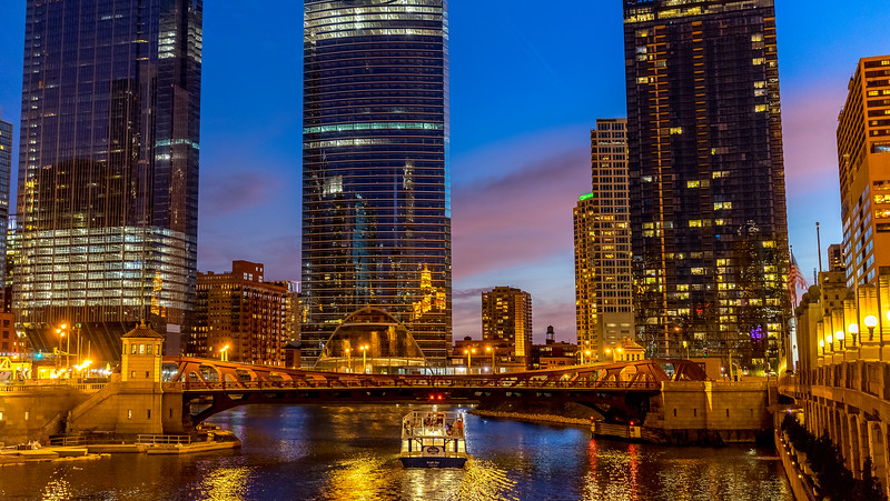 Warm Chicago Night on the River