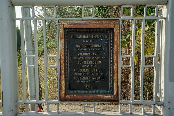 Bridgeway plaque, Mayor Thompson