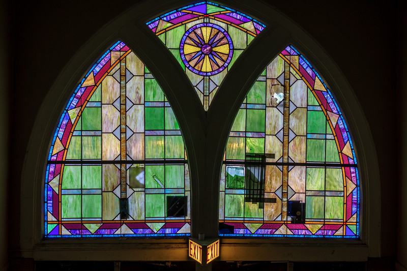 Stained Glass over the Exit