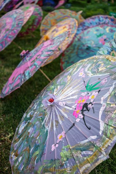 Lincoln Park Glittery Umbrellas