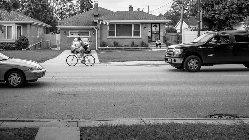Edison Park Bike Traffic