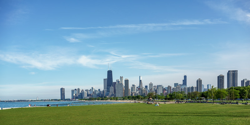 Lincoln Park Lakefront Skyline