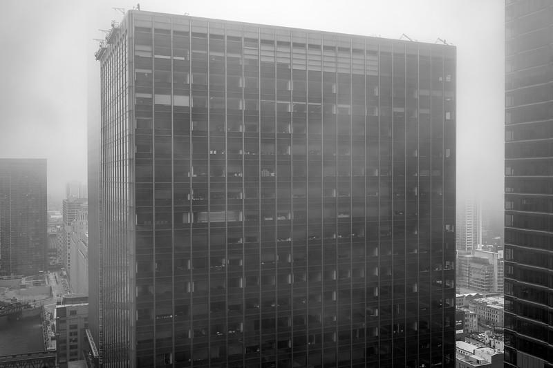 Foggy neighbors from Marina City Towers