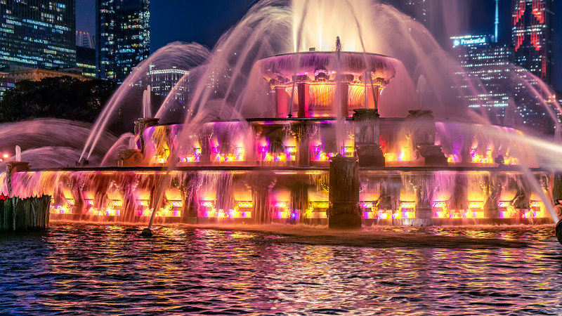 Colors of Buckingham Fountain