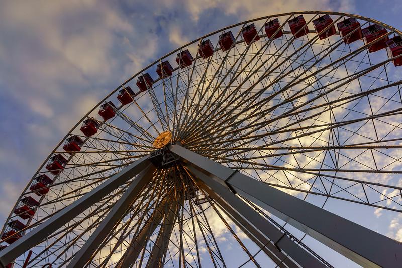 Ferris Wheel's last sunset