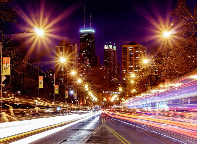 Lincoln Park traffic lights