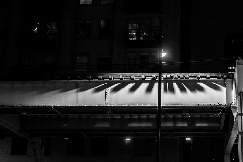 Piano Keys of the Tracks