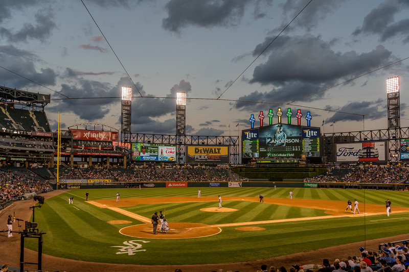 Clouds over US Cellular Field