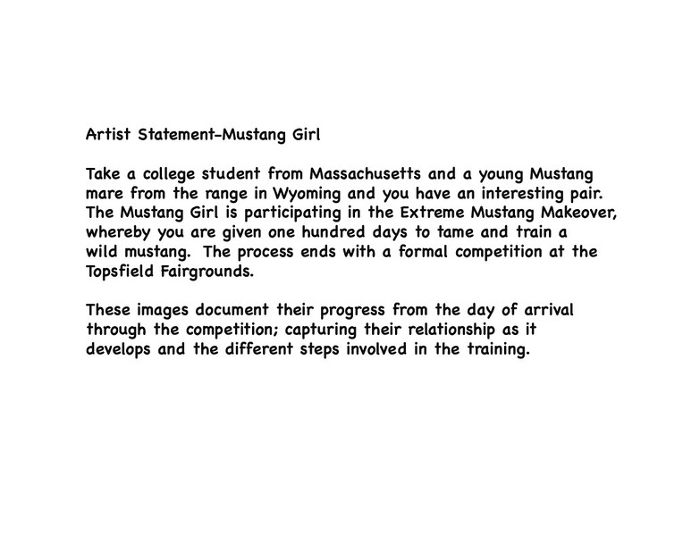 Artist Statement-Mustang Girl