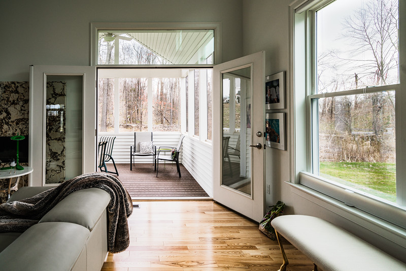 Bring the outside in-Double doors fully open