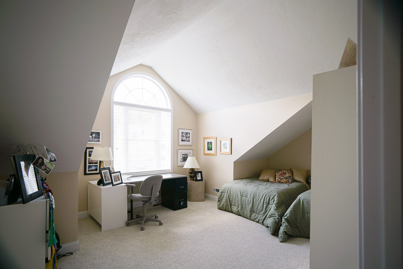 Bedroom #1 with vaulted ceiling