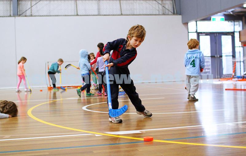 9-7-14. School holiday program run by All Sportz at Orrong Romanis centre in Prahran. Photo: Peter Haskin