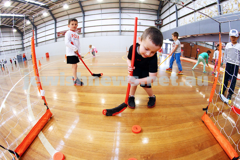 9-7-14. School holiday program run by All Sportz at Orrong Romanis centre in Prahran. Photo: Peter Haskin