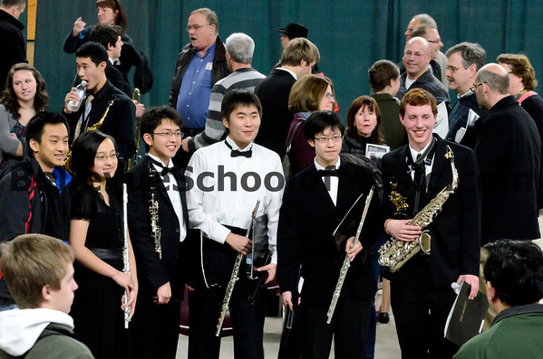 Andrew Nelson and fellow Interlake High School Students<br /> All-State Wind Ensemble 2012<br /> Parents mingling in background