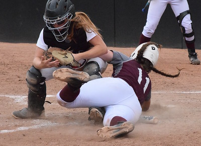 MATTHEW B. MOWERY/The Oakland Press file photo Clarkston's Hannah Cady (left) is a first-team Division I honoree on the Michigan High School Softball Coaches Association All-State team.