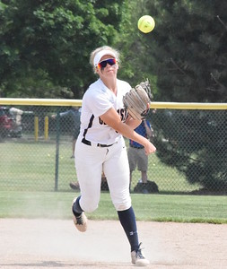 MATTHEW B. MOWERY/The Oakland Press file photo Clarkston's Paige Blevins is a first-team Division I honoree on the Michigan High School Softball Coaches Association All-State team.
