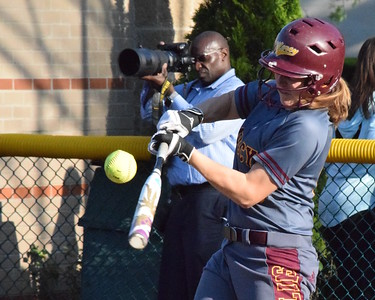 MATTHEW B. MOWERY/The Oakland Press file photo Farmington Hills Mercy's Anna Dixon is a Division I honorable mention on the Michigan High School Softball Coaches Association All-State team.