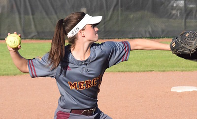 MATTHEW B. MOWERY/The Oakland Press file photo Farmington Hills Mercy's Sophie Van Acker is a first-team Division I honoree on the Michigan High School Softball Coaches Association All-State team.