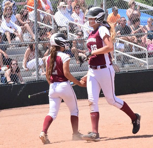 MATTHEW B. MOWERY/The Oakland Press file photo Walled Lake Northern's McKenzie Knight (right) is a Division I honorable mention on the Michigan High School Softball Coaches Association All-State team.