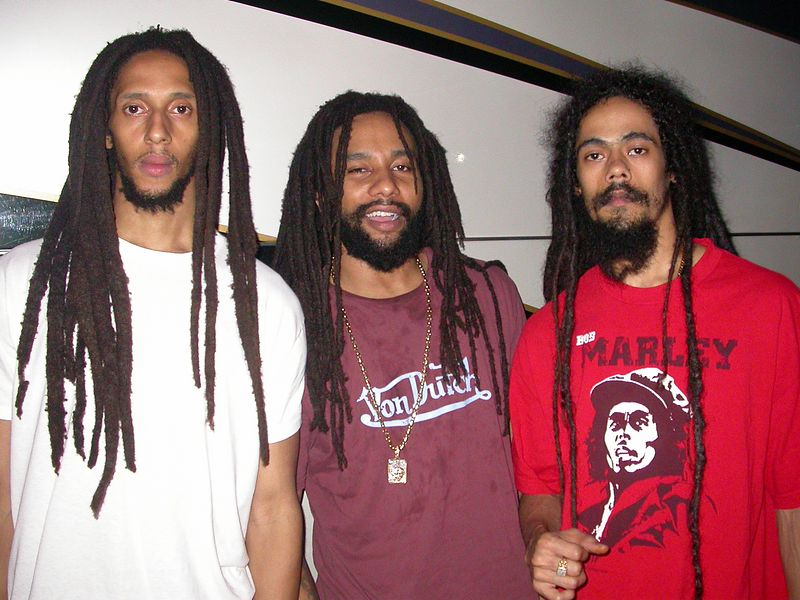 Julian, Ky-mani and Damian Marley by Shirley Twyford (Webmoment Photo)