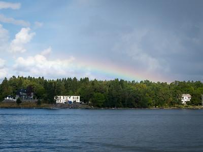 Rainbow over the archipelago