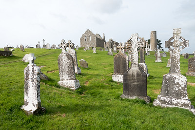 the medieval monastery at Clonmacnoise