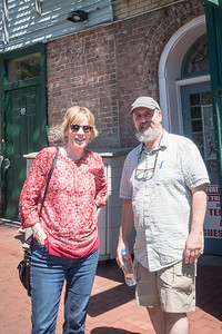 Kathy & Bennett outside Maud's