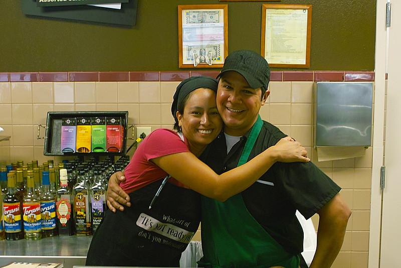 Stephanie and Darryl, my local friendly baristas
