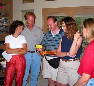 Pete admires his prize