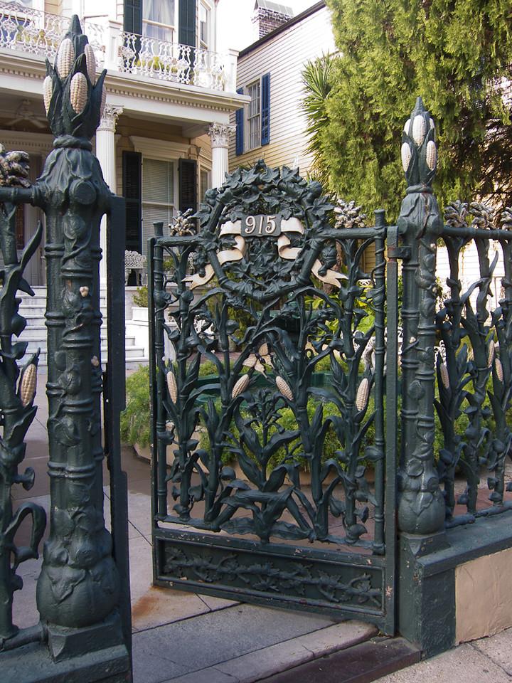 Cornstalk fence