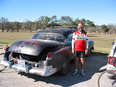 Jim and his 1950 Cadillac 2-door hardtop