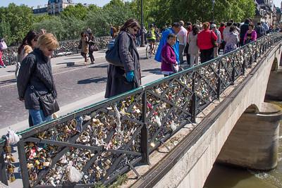 Lovers locks on the bridge