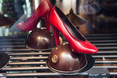 a chocolate shoe