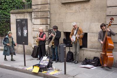 Jazz on the sidewalk