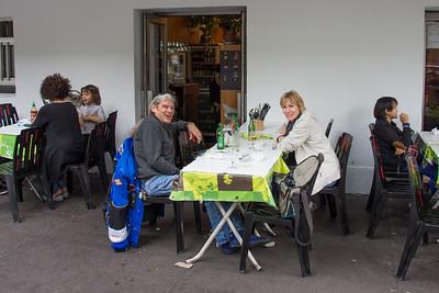 Seth & Kathy enjoy a Vietnamese lunch