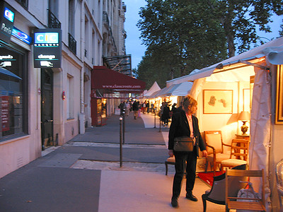Antique stalls on the Champs Elysee