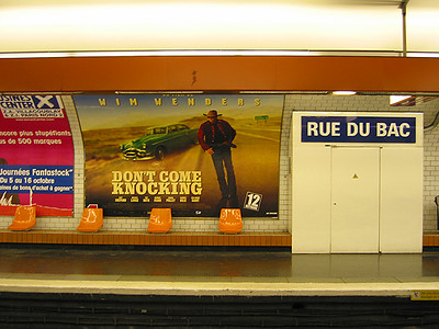 Movie ad in the Metro station