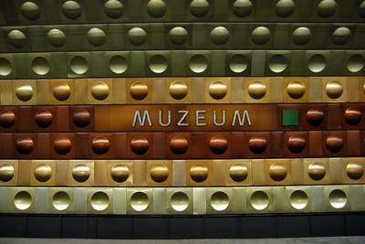 Muzeum metro stop wall