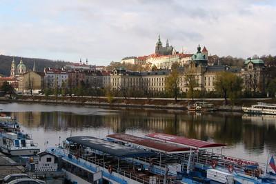 Prague Castle above the river