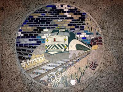 Encinitas sidewalk mosaic
