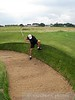 Extremely challenging lie in a Muirfield bunker.  Somehow I made it out in 1 shot!  My wrists took about 3 holes to recover.
