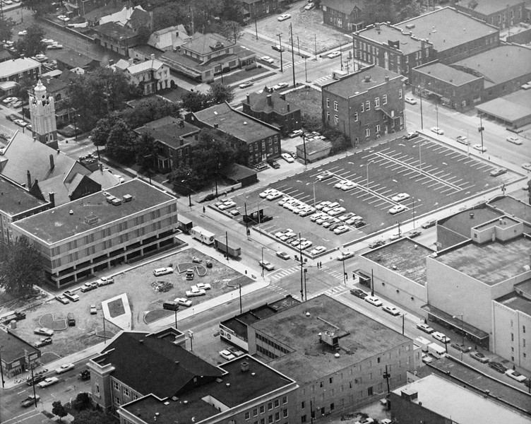 Messenger-Inquirer photo<br /> <br /> Aerial photo - Downtown Owensboro