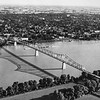 Messenger-Inquirer photo by Graphic Art Studio<br /> <br /> Aerial photo - Bridge and Owensboro.