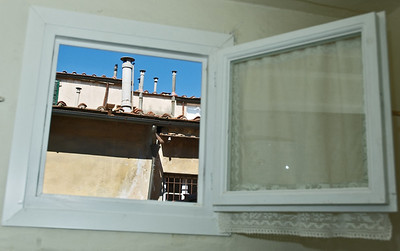 View from 2nd bathroom looking a the the walls of the other apartments in the Palazzo