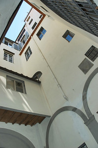 upward view form the internal courtyard