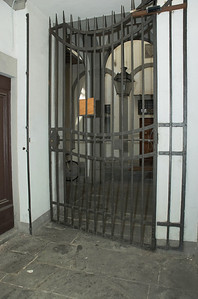 2nd door (an Iron gate) to internal courtyard, housing the stairs to the 2nd floor